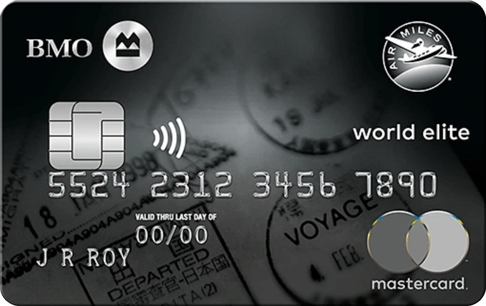 BMO® AIR MILES® World Elite® MasterCard® logo