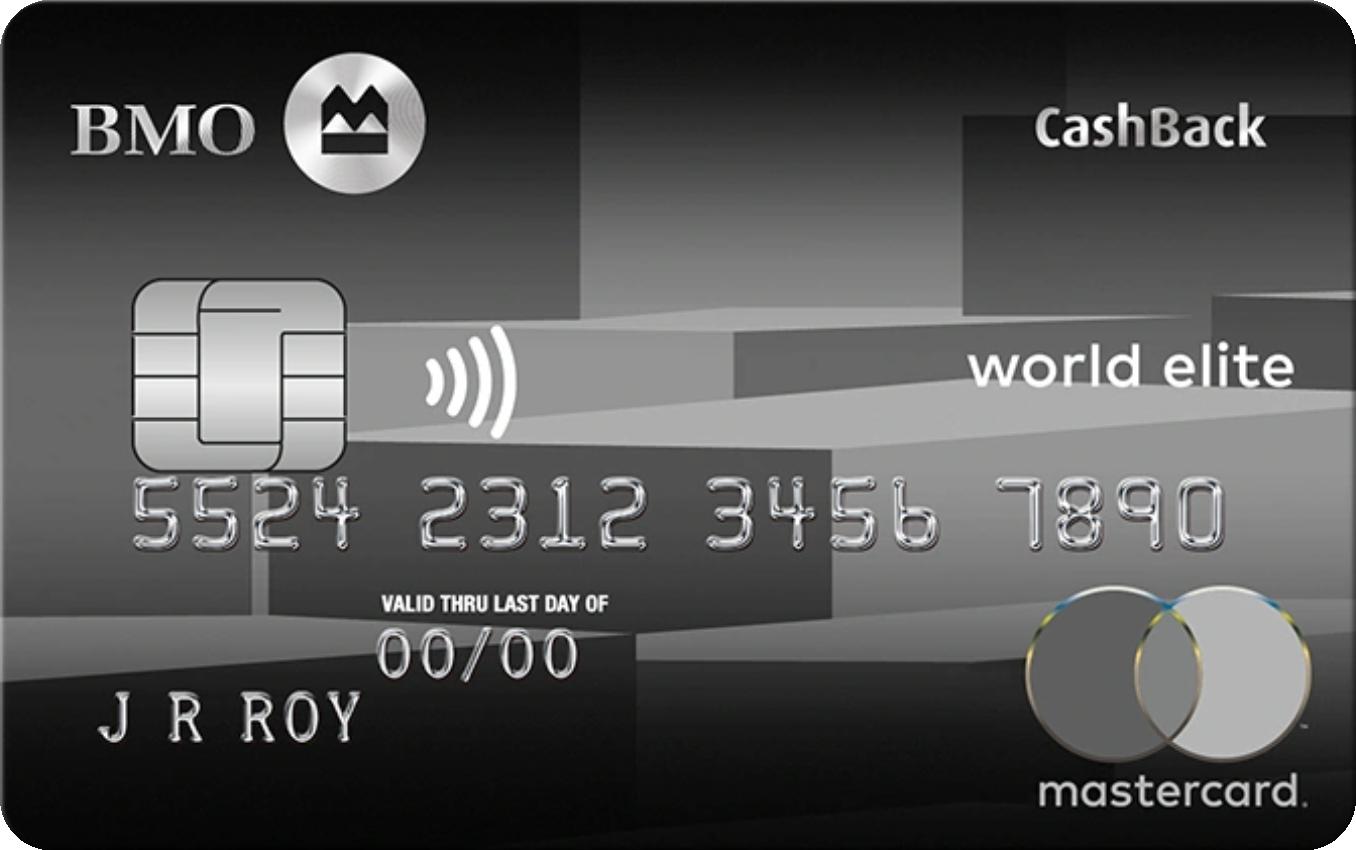 BMO® CashBack® World Elite® MasterCard® logo